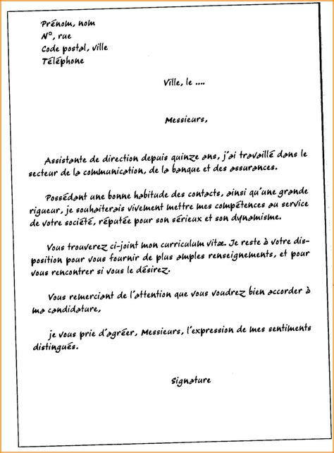 Lettre De Motivation De Base 10 lettre de motivation type modele lettre
