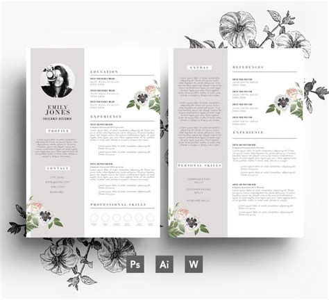 flower design resume 12 best flower resumes images on pinterest resume