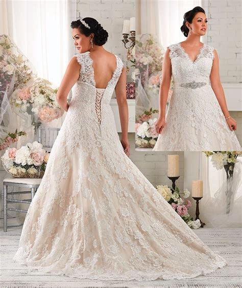 Wedding Dresses Size 18 by White Ivory Lace Wedding Dresses Bridal Gown Custom Plus