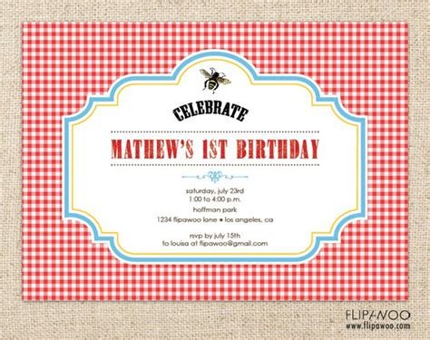 Free Printable Picnic Invitations Templates Free Picnic Invitation Template