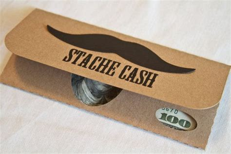 Gift Cards And Money - money gift card with matching envelope original mustache cash set via etsy gift of