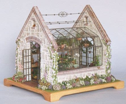 miniature doll houses english greenhouse miniatures pinterest