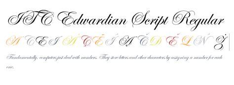 tattoo lettering edwardian script itc edwardian script regular fonts com