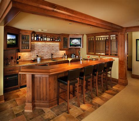 A Collaborative Design Group Traditional Basement Basement Bar Idea