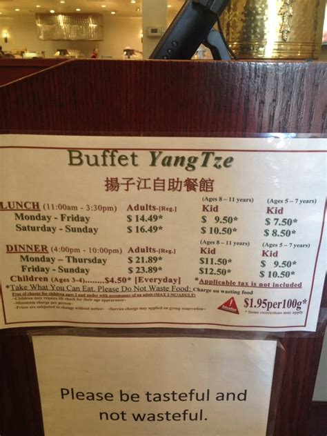 buffet prices april 2016 yelp