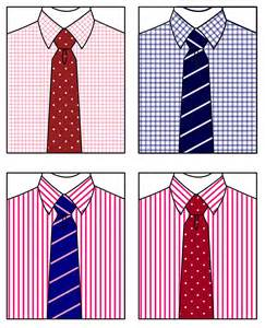matching patterns matching your shirt tie suitably inclined