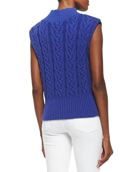 sleeveless cable knit sweater queena cable knit sleeveless sweater