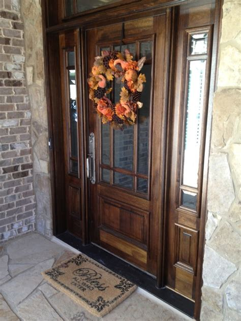 Traditional Wooden Front Doors Custom Home In Barefoot Cove