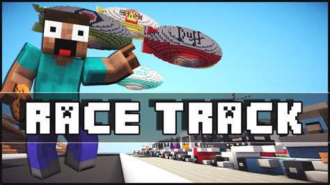 minecraft race car minecraft race track youtube