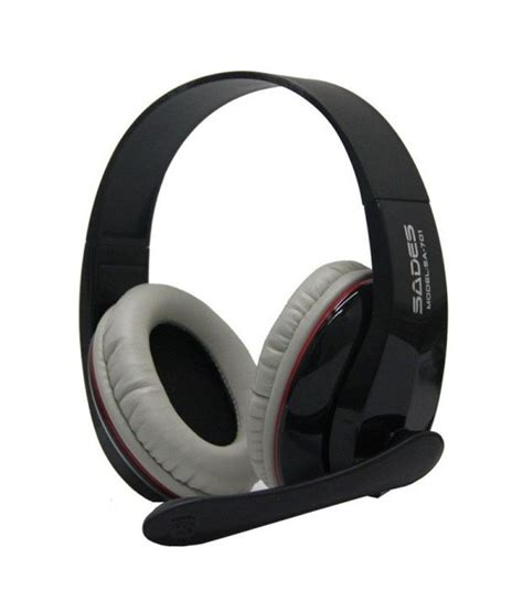 Headset Sades Sa 701 buy sades sa 701 ear headset with mic black at best price in india snapdeal