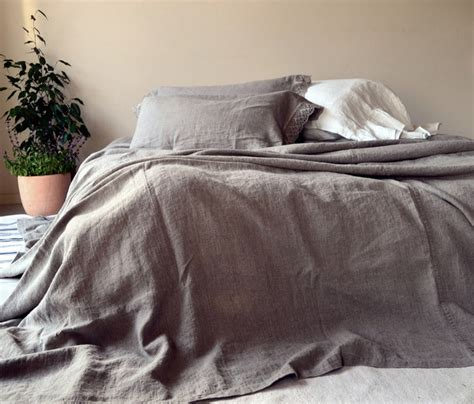 stonewashed linen bedding rustic stonewashed linen bed cover coverlet king