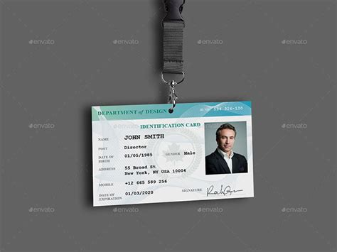 professional id card templates 30 best id card and lanyard templates psd vector