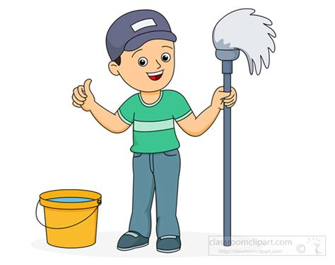 boy cleaning clipart   Clipground