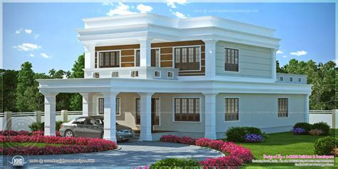 Flat Roof Luxury Home Design Kerala Floor Plans Building | flat roof 4 bedroom luxury home kerala home design and