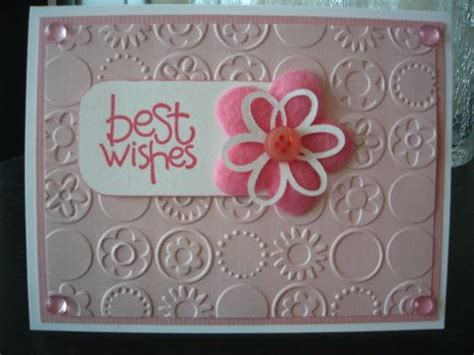 Wishes Written On Paper Make This - this sweet pink blossom and quot best wishes quot sentiment on top