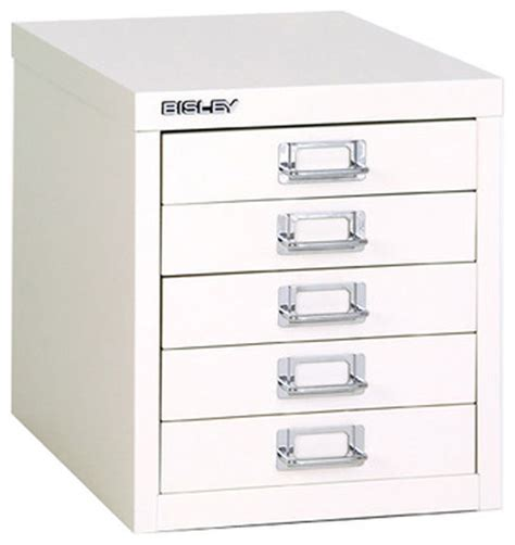 bisley 5 drawer desktop multi drawer cabinet in white