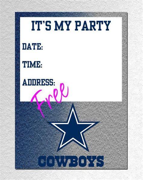 cowboy birthday card templates dallas cowboys invitations a birthday cake