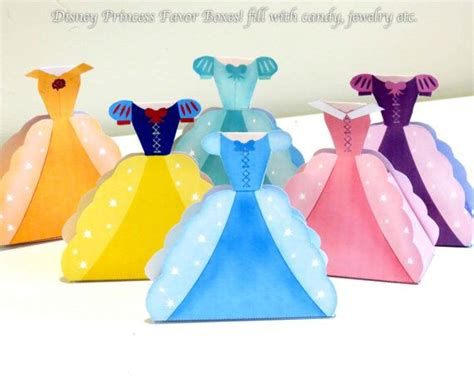Princess Party Giveaways - disney princess party favors printable favor boxes on etsy so cute for princess party
