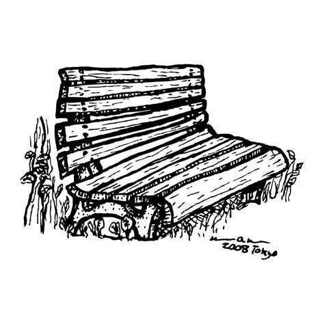 how to draw a park bench bench drawing by karl addison
