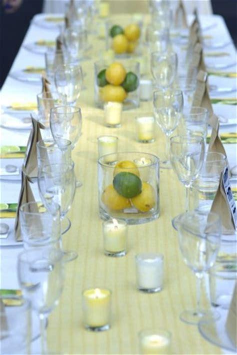 Lemons & Limes table decor   Women's Retreat Ideas   Pinterest