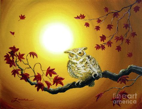 Owl Fall Leaf Iphone All Hp owl in autumn glow painting by iverson