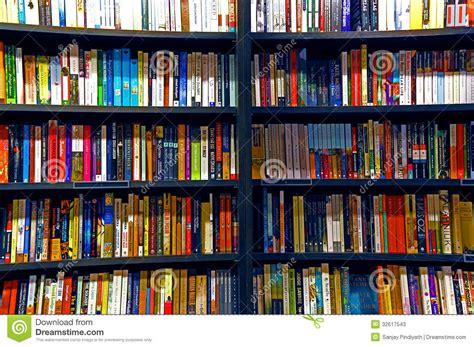 bookstore bookshelves books on shelves editorial stock photo image 32617543
