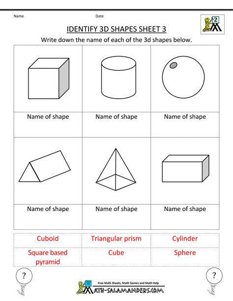 worksheets shapes grade 2 second grade geometry