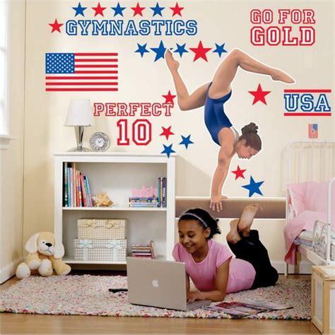 Gymnastics Room Decor by Gymnastics Wall Decals For Bedroom
