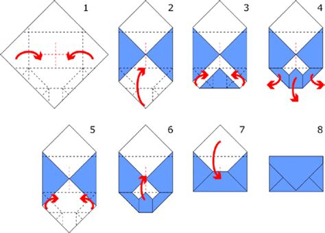 Origami Envelope Diagram - origami envelope origami flower easy