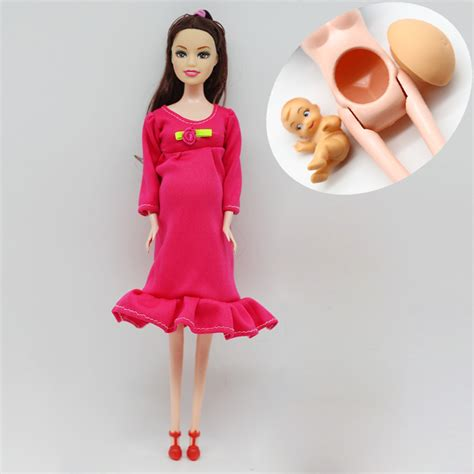 Real Doll Doll A Baby In Tummy With Small Shoes 1pcs diy brown hair real doll a baby in