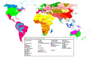 Language Map Of The World by Being Multilingual Images World Language Groups Map Hd