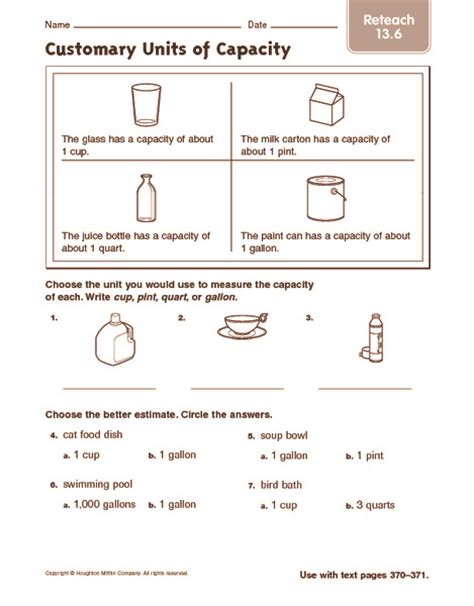 3rd Grade Measurement Worksheets by Customary Measurement Worksheets For 3rd Grade