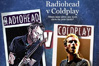 coldplay vs radiohead coldplay v radiohead
