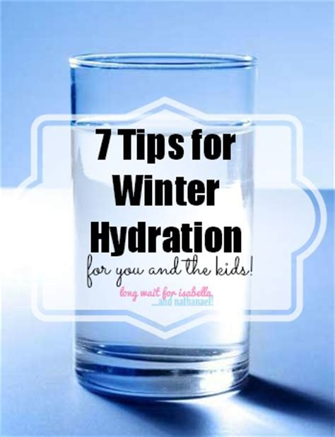 hydration winter wait for