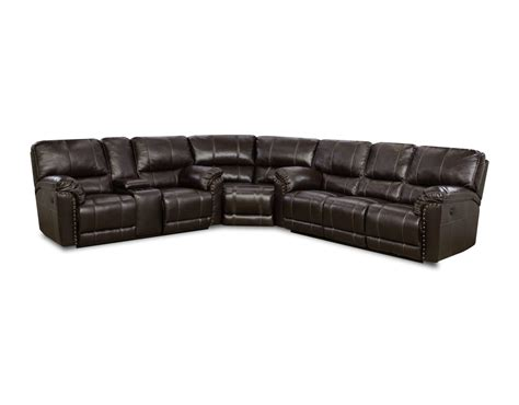 simmons sectional couch abilene chestnut reclining sectional by simmons