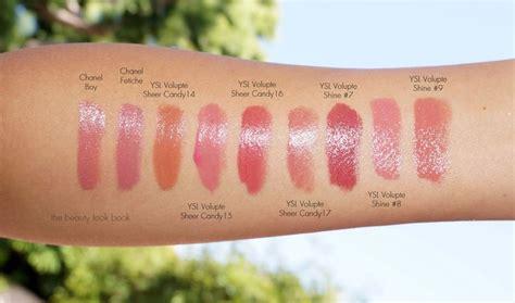 Magic Glossy Vs Sari the look book new shades of ysl volupt 233 sheer