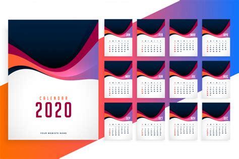modern   year stylish calendar template vector