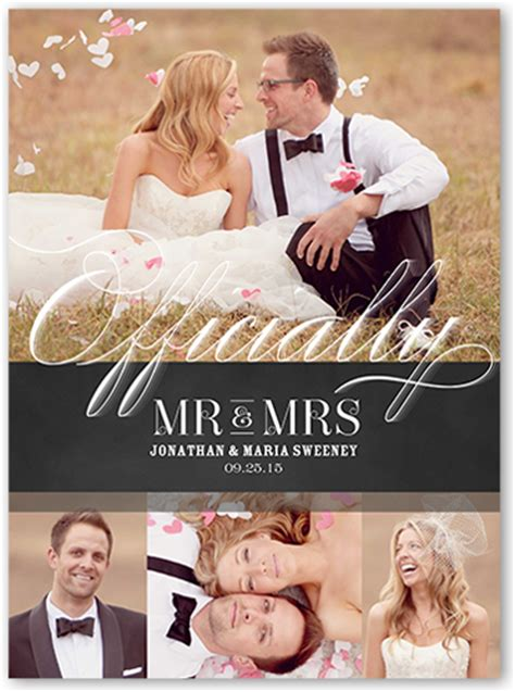 Wedding Announcements Cards by Made It Official 6x8 Wedding Announcement Cards Shutterfly