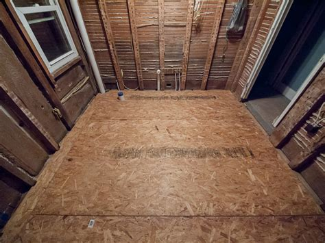 install bathroom subfloor our day by day images of the master bathroom rebuild