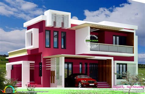 modern box type 2700 sq ft home kerala home design and box type contemporary home house designs pinterest