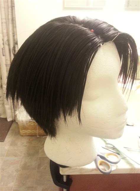 levi ackerman haircut fail travelkatzfamily youtube levi wig tutorial for the undercut wig styling