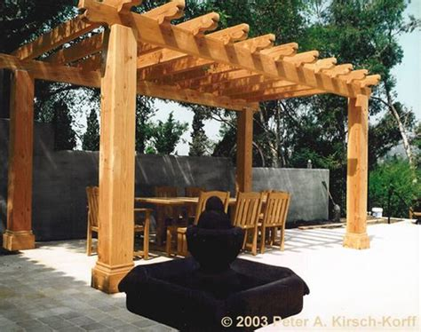 mission style wood dining pergola los angeles