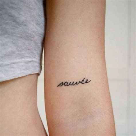 small phrase tattoos 40 charming one word exles