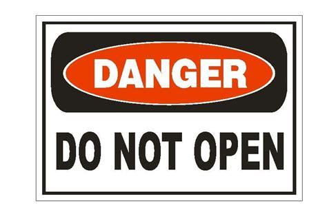 Aufkleber Quetschgefahr by Danger Do Not Open Sticker Safety Sign Decal Label D876 Ebay