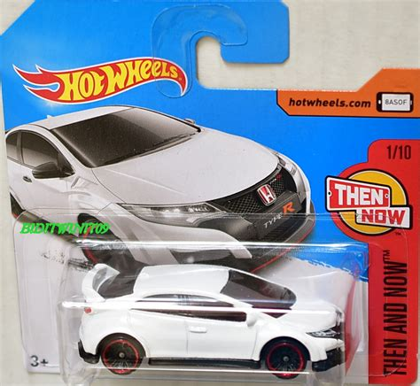Hotwheels Civic Type R Then And Now wheels 2017 then and now 16 honda civic type r 1 10 card 0003540 3 67