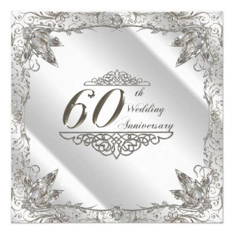 Card Template For 60th Silver Anniversary 637 best 60th anniversary invitations images on