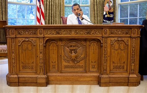 Oval Office Desks with File Barack Obama Sitting At The Resolute Desk 2009 Jpg