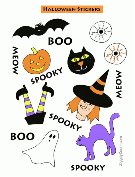 printable stickers for halloween printable halloween stickers ziggity zoom