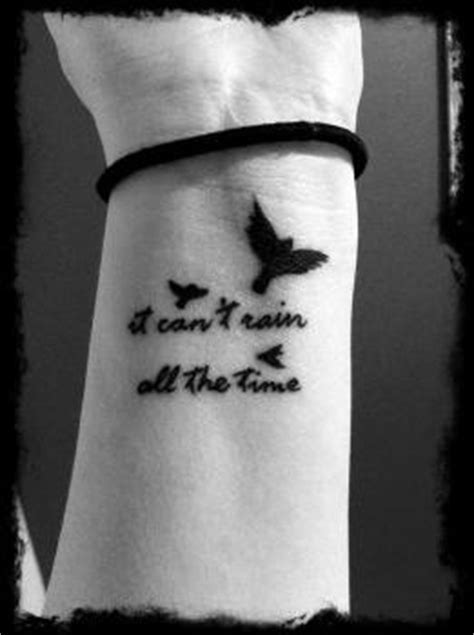 it can t rain all the time tattoo the and crows on