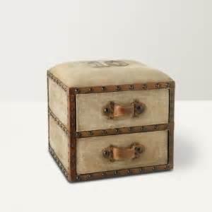 davida side stool with drawers and brown 2 pcs